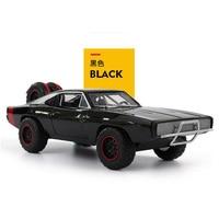 22.5CM 1/24 Black Metal Alloy 1970 Dodge Charger Fast Car Pull back Model Alloy die casting car Toys For Children gift model