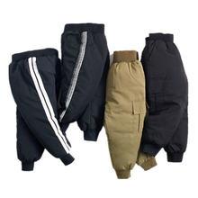 Новинка 2020 года; Хлопковые брюки для мальчиков и девочек;