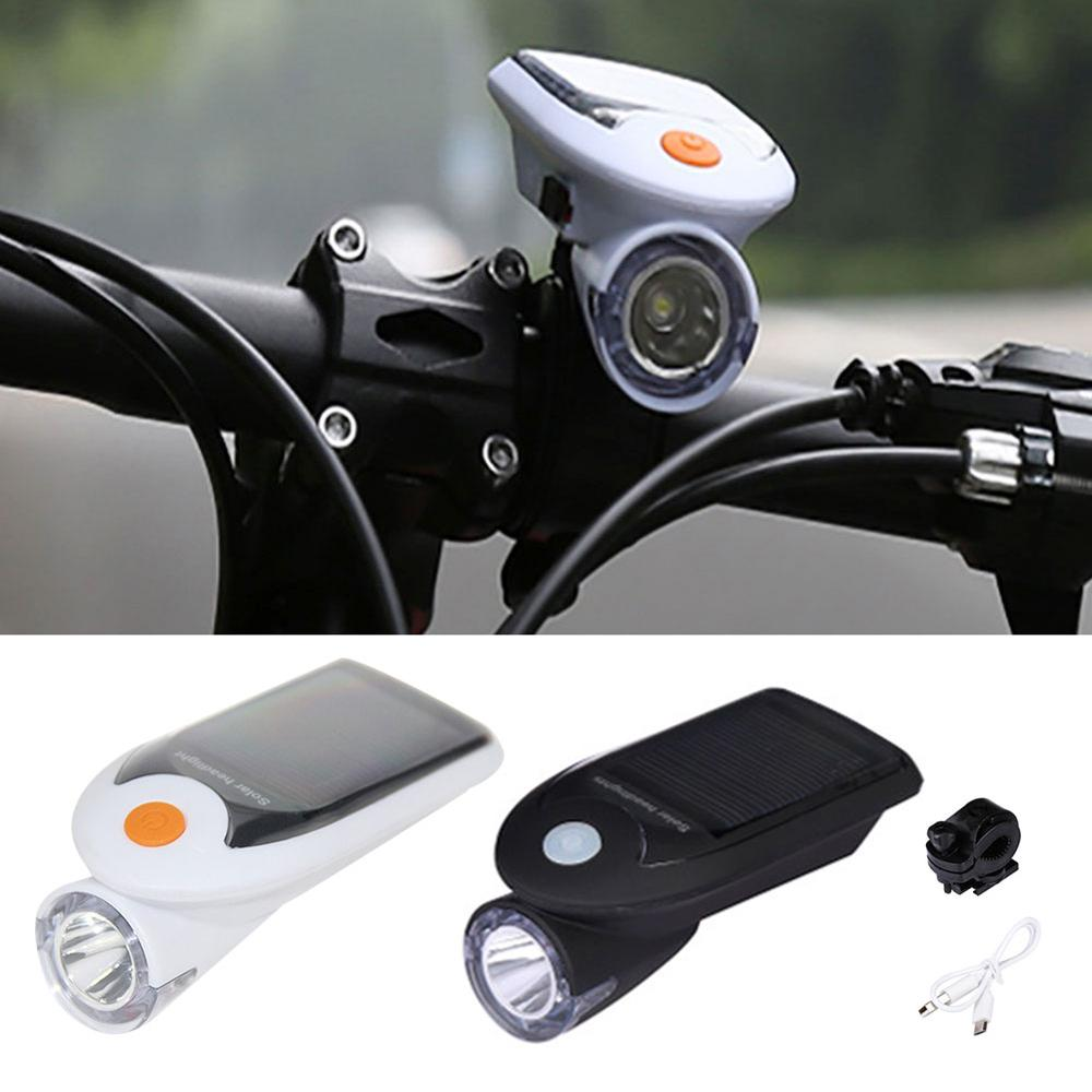 High Brightness <font><b>Bikes</b></font> Headlight and Taillight <font><b>Set</b></font> Waterproof Solar-Powered <font><b>Bike</b></font> <font><b>Lights</b></font> 4 Lighting Modes Bicycle Accessories image