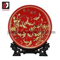 Unique 24k gold foil wedding plates decoration traditional handicrafts home decor ceramic plates