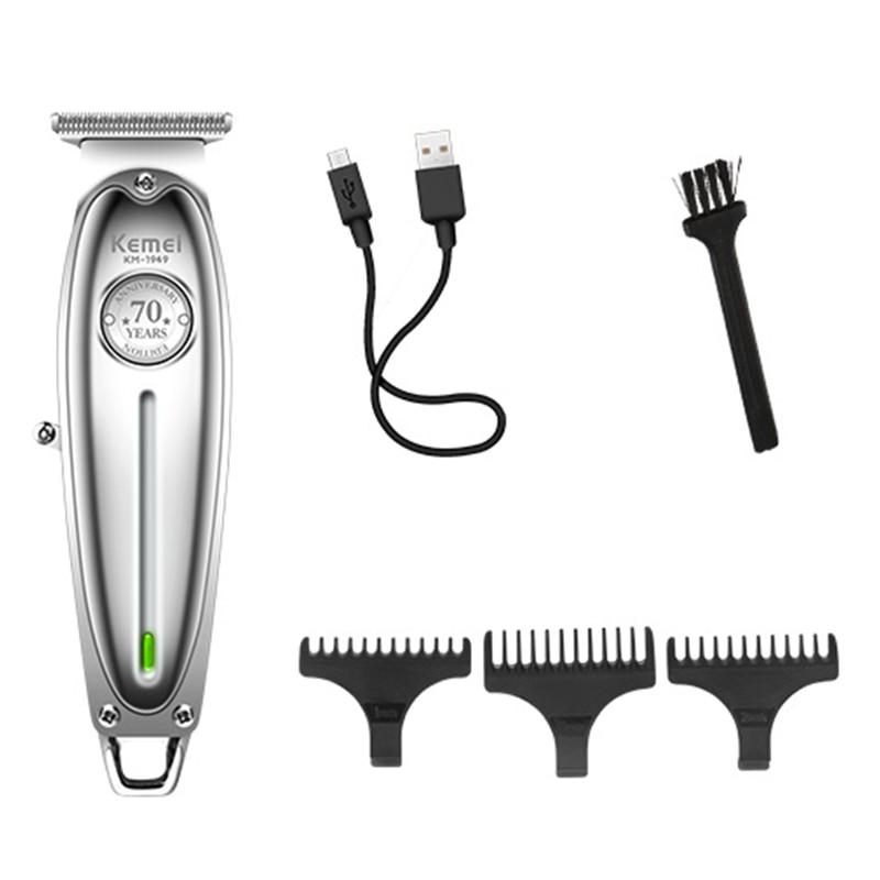 Image 2 - オールメタルプロのヘアトリマーひげコードコードレスバリカン男性グルーミングトリマー電気毛切断機散髪ヘアトリマー   -