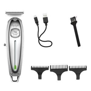 Image 2 - オールメタルプロのヘアトリマーひげコードコードレスバリカン男性グルーミングトリマー電気毛切断機散髪