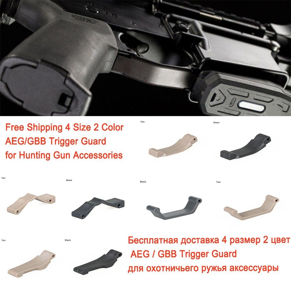 Envío Gratis Airsoft Trigger Guard GBB AEG tipo para accesorios de caza airgun para AR15 M16 M4 caza Paintball accesorio CB6