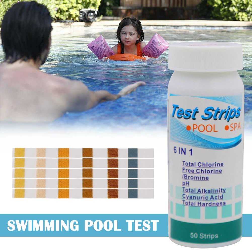 Swimming Pool Test Paper Residual Chlorine PH Value Alkalinity Hardness Test Strip  SDF-SHIP