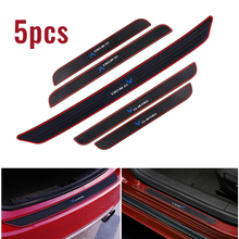 5PCS Rubber Car Door And Trunk Scuff Sill Cover Panel Rear Guard Bumper Scratch Protector Non-slip Pad US AIR FORCE Style