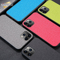 KISSCASE Phone Case For iPhone X XS MAX XR 11 11 Pro Matte Cloth Back Case For iPhone 7 8 6s 6 Plus 5s 5 SE Soft TPU Cover Funda