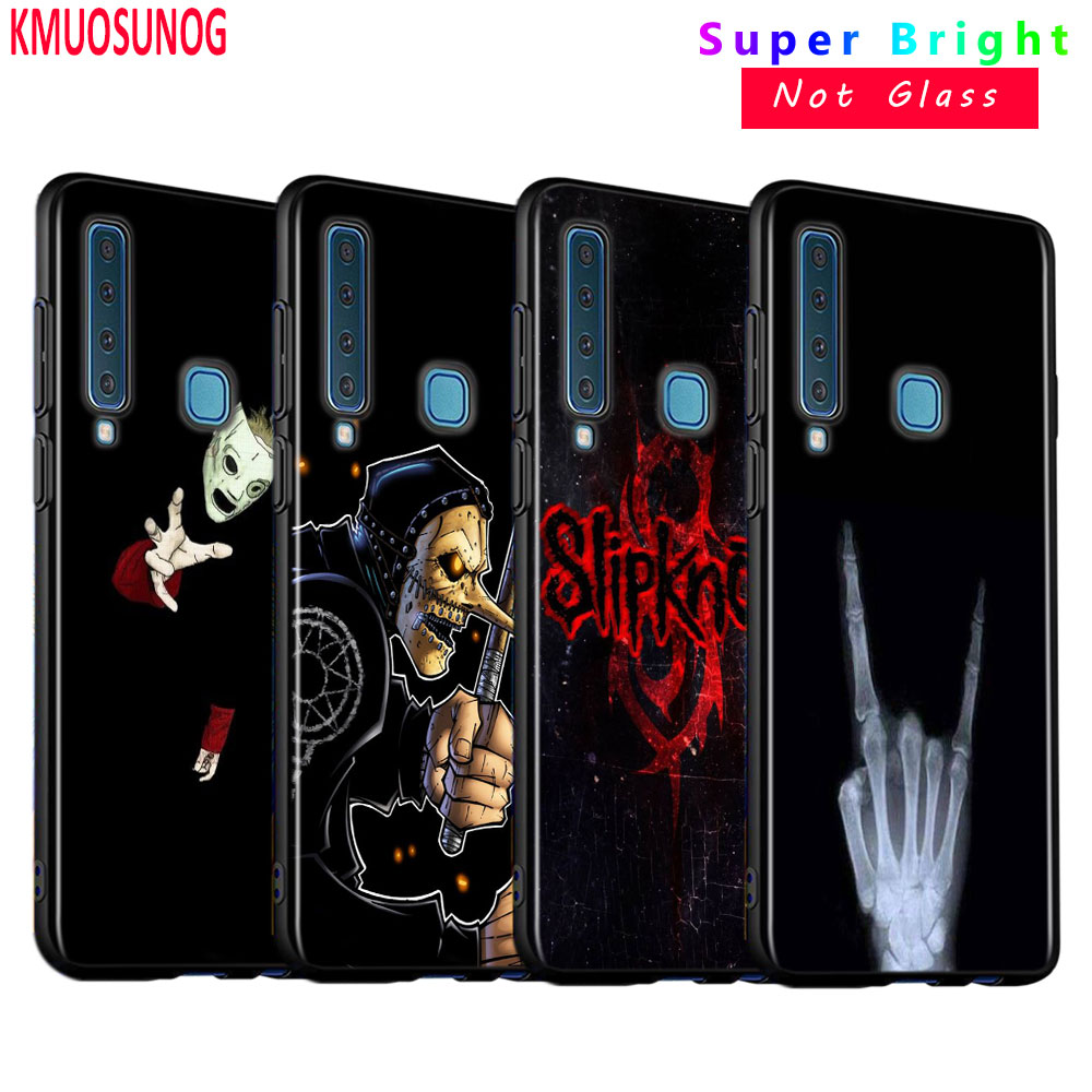 Black Silicone Cover Slipknot Rock for <font><b>Samsung</b></font> Galaxy A9 A7 2018 A8 <font><b>A6</b></font> Plus A5 A3 Star <font><b>2017</b></font> 2016 Phone <font><b>Case</b></font> image