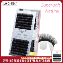 LAGEE J B C CC Curl custom Faux mink individual eyelash extension dlux natural soft cilia lashes extension for professionals