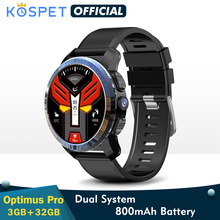 "KOSPET Optimus Pro 3GB 32GB Smart Watch GPS For Men WIFI Heart Rate Monitor 1.39"" Camera Dual System 4G Smartwatch Android Phone"