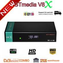 Gtmedia-Receptor satélite V8X FTA, DVB-s2/S2X, full hd, h.265, igual que gtmedia V7 s2x con actualización gratuita de wifi USB