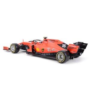 Image 3 - Bburago 1:18 2019 SF90 F1 Racing #16 #05 Formel Auto Statische Druckguss Fahrzeuge Sammeln Modell Auto Spielzeug