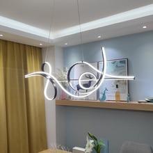 Lampe suspendue scintillante néo, design moderne pendentif Led ampoules, luminaire décoratif dintérieur, idéal pour une salle à manger ou une cuisine