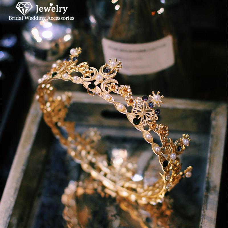 Cc tiaras e coroas hairbands bandana estilo barroco casamento acessórios para o cabelo feminino nupcial hg436