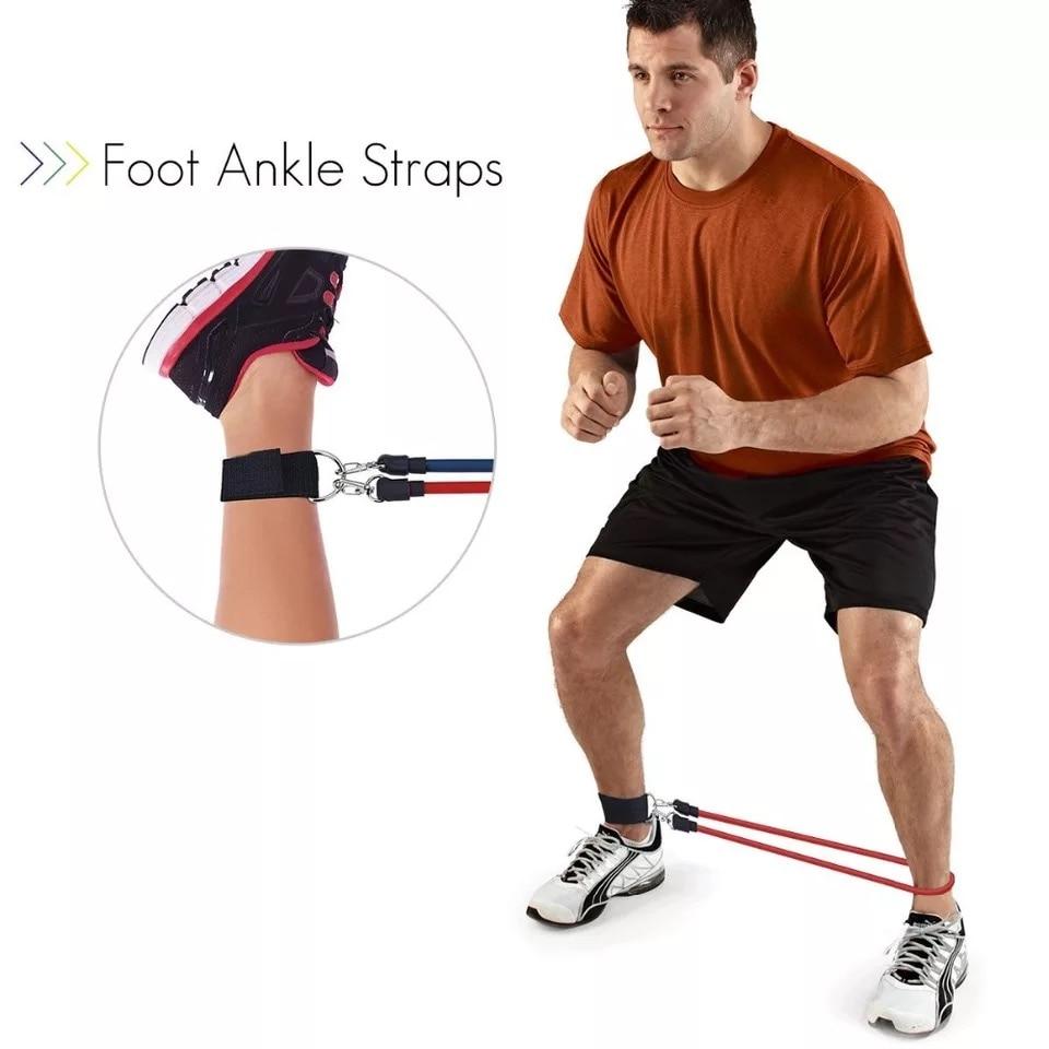 Эспандеры канат для перетягивания спортивный комплект Эспандер для занятий йогой, упражнений, Фитнес резиновые трубки резинка для тренировок домашние тренажеры тренировки с эластичной резинкой-5