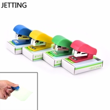 Manual Stapler JETTING Plastic Mini No.-10 Fastener Candy Solid-Color