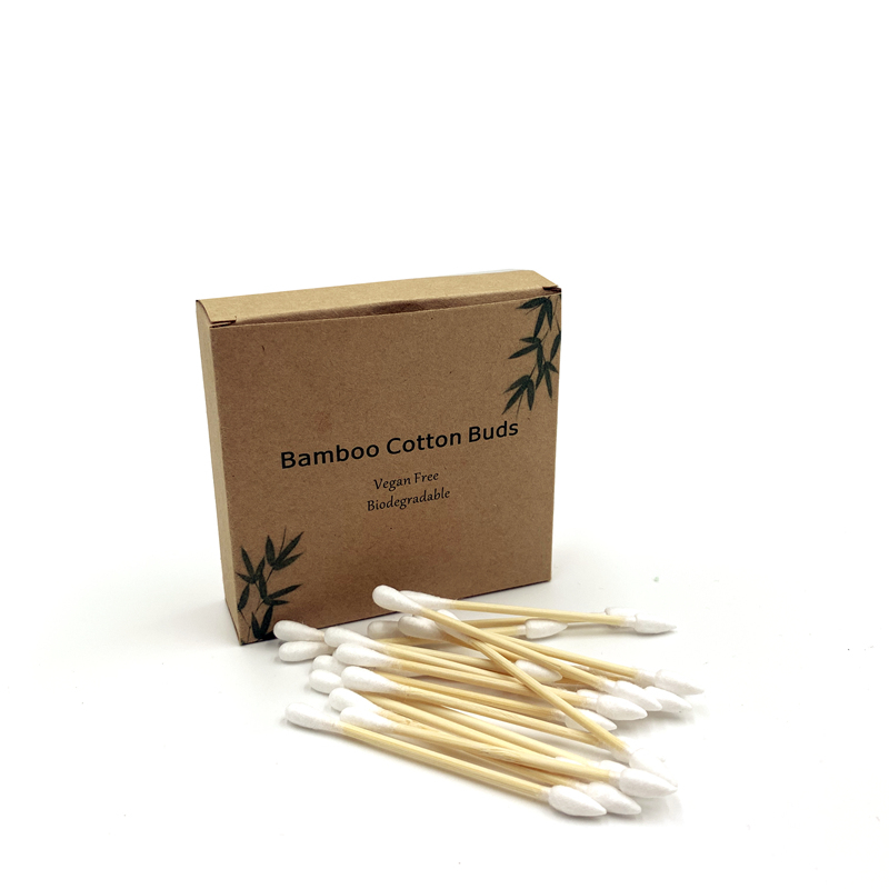 100PCS Cotton Swab Disposable Tube Double-Headed Bamboo Cotton Soft Cotton Ear Two Tips Bamboo Cotton Swabs