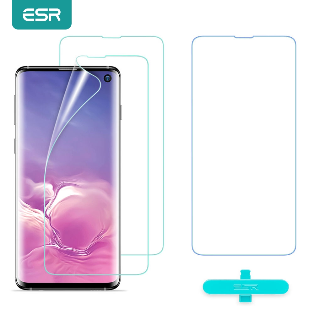 ESR 2pcs Screen Protector for Samsung Galaxy S10 Full Cover Soft TPU Crystal Clear Screen Film for Samsung Galaxy S10 S20 Plus