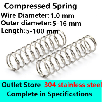 10Pcs 0.7mm Wire Diameter 9//10mm OD Stainless Steel Compression Pressure Spring