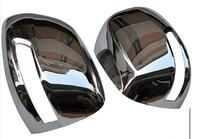 Abs chrome espelho retrovisor capa guarnição para toyota land cruiser lc/fj200 2012-2014