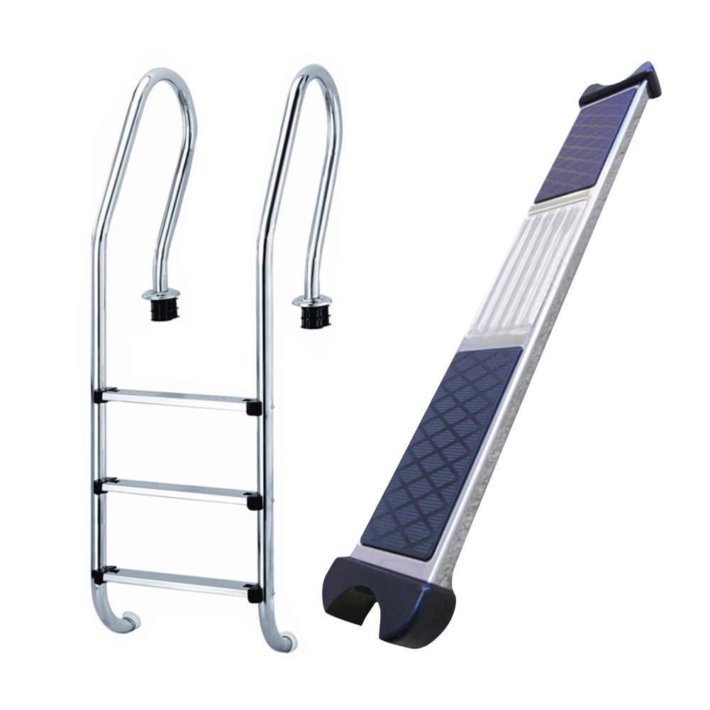 Pool Stairs Pedal Pool Escalator Pedal 304 Stainless Steel Ladder Kick Step Ladder Equipment Swimming Pool Underwater Step