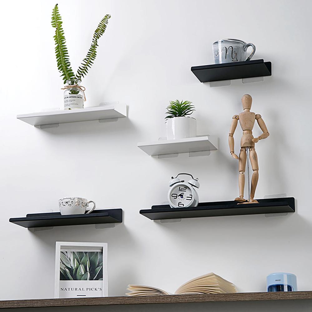 Puch Free Metal Shelf Organizer Wall Decorative Shelf For Flower Pot Artwork Bathroom Kitchen Wall Organizers