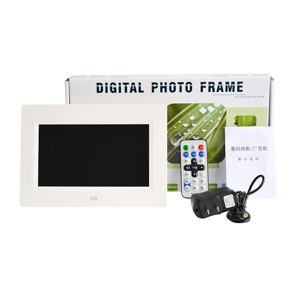 7 дюймов Led Подсветка Full Hd Функция цифровая фоторамка электронный альбом для фотографий для рабочего стола фотоальбом Музыка Видео