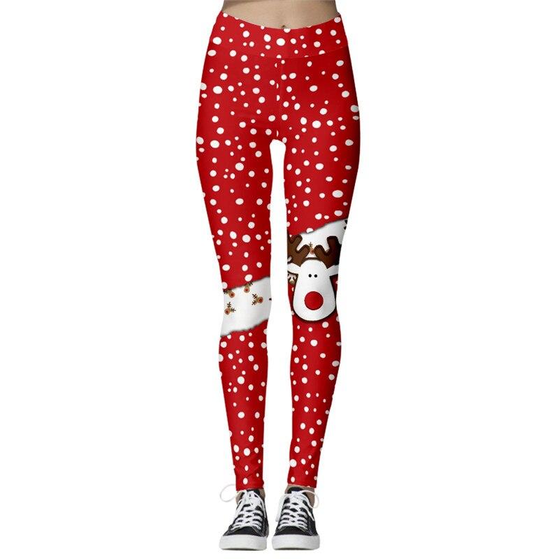 High Waist Punk Harajuku Workout Push Up Fitness Sexy 3d Print Women Leggings Plus Size Pants Femme Christmas Clothings