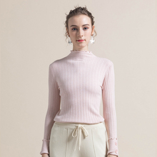 INS Hot Autumn Winter ladies knitted button sweaters long sleeve ruffles bottoming shirt