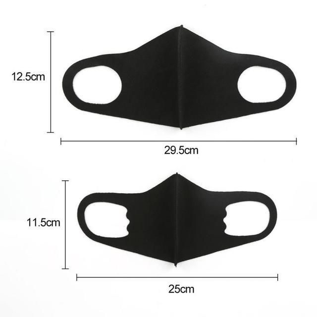Breathable n95 Mask Unisex Anti-dust Haze Flu Face Mouth Mask n95 Respirator mascara ffp3 Washable Black CE Mask Protective Mask 2