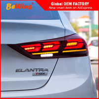 Car styling For 16 18 Hyundai Elantra leading tail lamp assembly LED tail lamp LED 3C tail lamp flow light steering