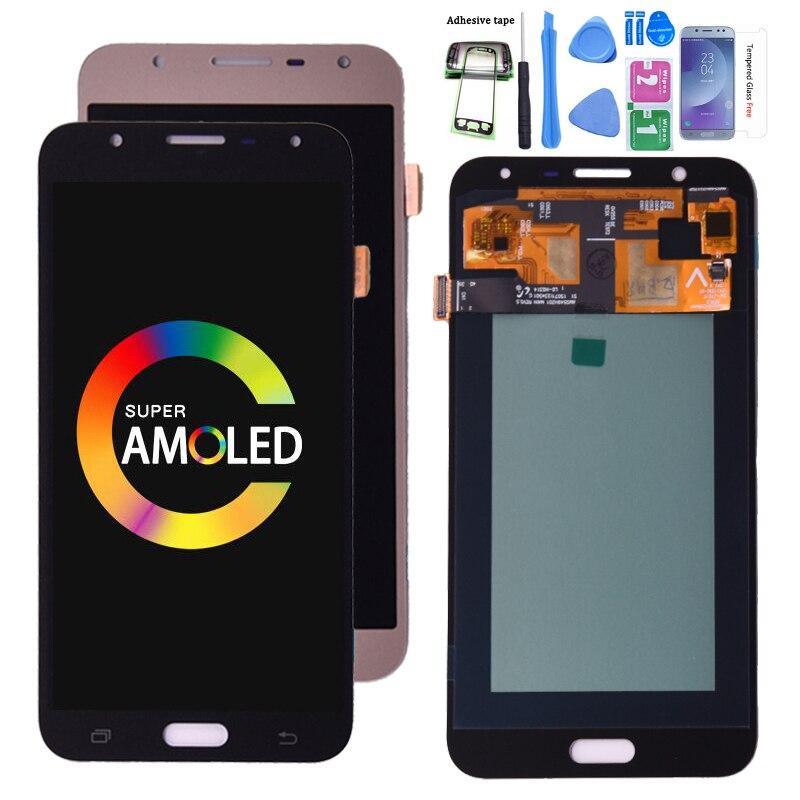 Оригинальный ЖК-дисплей Super Amoled для Samsung Galaxy J7 neo J701 J701F ЖК-дисплей AMOLED сенсорный экран дигитайзер в сборе