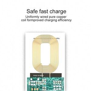 Image 4 - ユニバーサルチーワイヤレス充電アダプタレシーバーパッドコイルiphone 6 6sプラスxiaomi huawei社タイプcマイクロusbワイヤレス充電器
