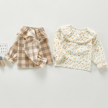 Children Clothing Flower-Shirt Long-Sleeve Autumn Korean-Style Japan Toddler Baby-Girls