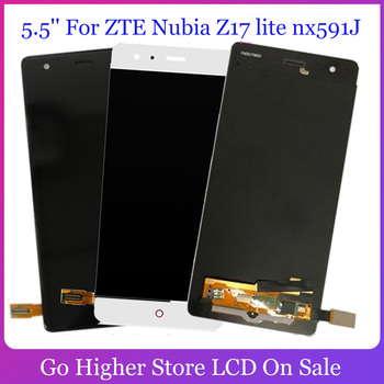 AAA AMOLED 5.5 Inch For ZTE Nubia Z17 lite nx591J / Z17 NX563J LCD Display Touch screen Digitizer parts Assembly Free Tools