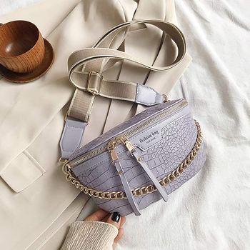 Retro Waist Bag PU Leather Fanny Pack Shoulder Bag Ladies Alligator Pattern Waist Pack Women Belt Bag Multifunctional Chest Bag 7