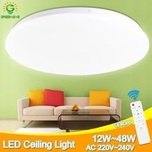 Ультра тонкий светодиодный потолочный светильник 48 Вт 36 Вт 24 Вт потолочный светильник современный светильник для гостиной спальни поверхностное крепление дистанционное управление