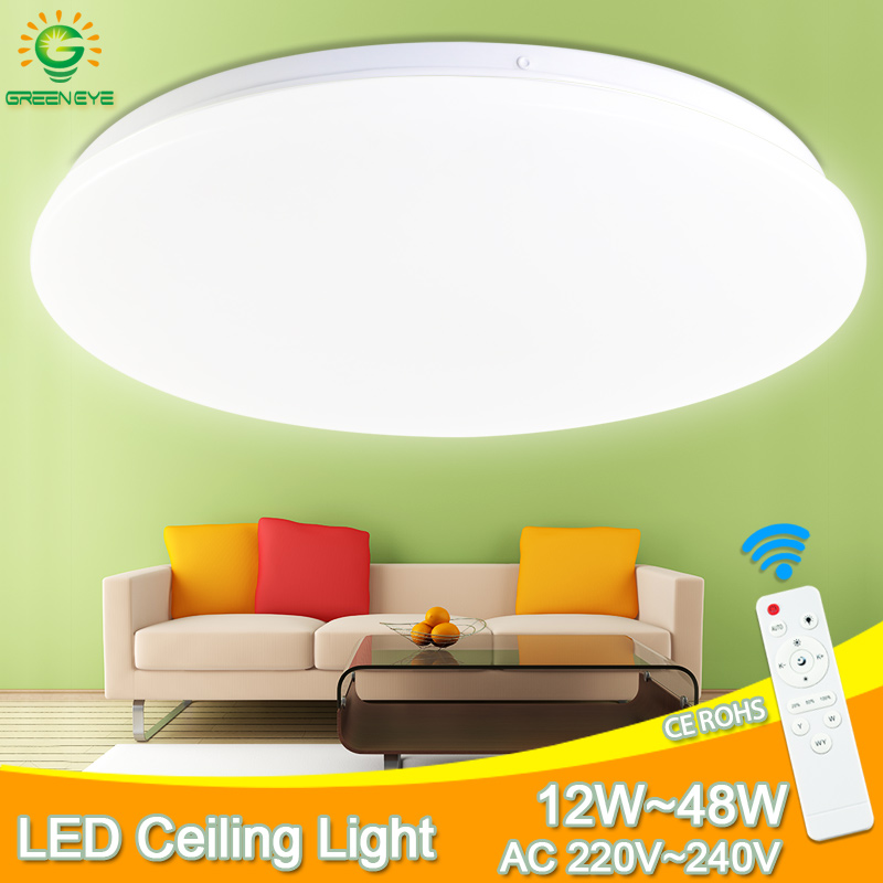 Ultra Thin Led Ceiling Lamp 48W 36W 24W Ceiling Lighting Fixture Modern Lamp Living Room Bedroom Surface Mount Remote Control