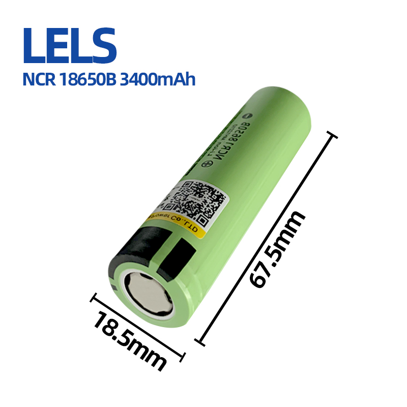 Leles-batería recargable de litio para linterna, NCR18650B, 3,7 V, 3400mAh, 18650