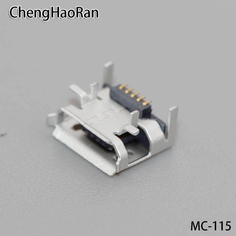 ChengHaoRan  2PCS/lot For Jbl Pulse 2 Heightened Tablet PC PAD Charge Port Socket Micro Mini USB Jack Connector Replacement Repair 5pin Mobile Phone Charging Socket
