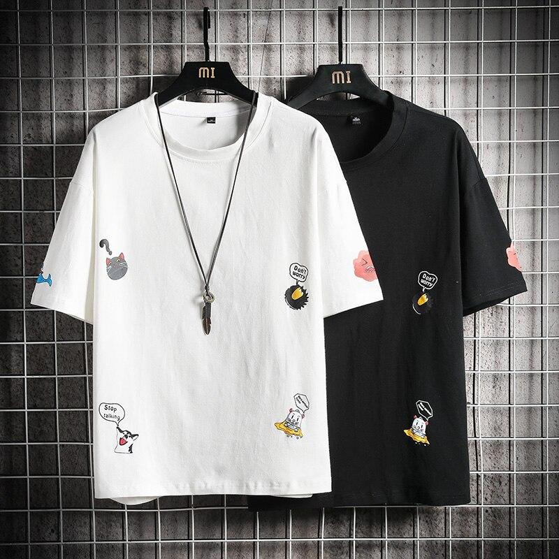 Cat T Shirts do not worry print Cartoon crow funny T-shirt Printed Tee Cute Gift Tshirt
