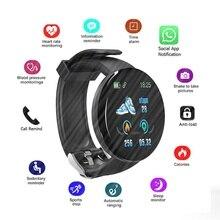 D18 Smart Watch Men Women Blood Pressure Round Smartwatch Wa