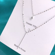Two layers Charms Overall Sterling Silver 925 Original Luxury Pendants Necklace Women Popcorn Chain Fine Craftsmanship Jewelry