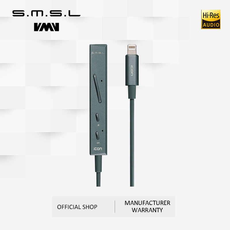 SMSL アイコンハイファイオーディオデコーダポータブルヘッドホンアンプ DAC 入力雷コネクタ内蔵マイク iphone IOS