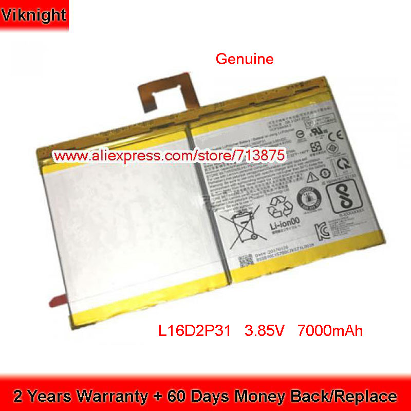 Genuine 3.85V 7000mAh 27Wh L16D2P31 Battery For Lenovo Tab 4 10 Plus TB-X704F SB18C15128 1ICP38494-2