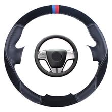 תפור לפי מידה רכב הגה כיסוי שחור עבור מאזדה 6 atenza 2009 2010 2011 2012 2013 אוטומטי עור זמש צמת