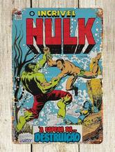 Hulk incriminável a espera da destruição português comics metal estanho sinal