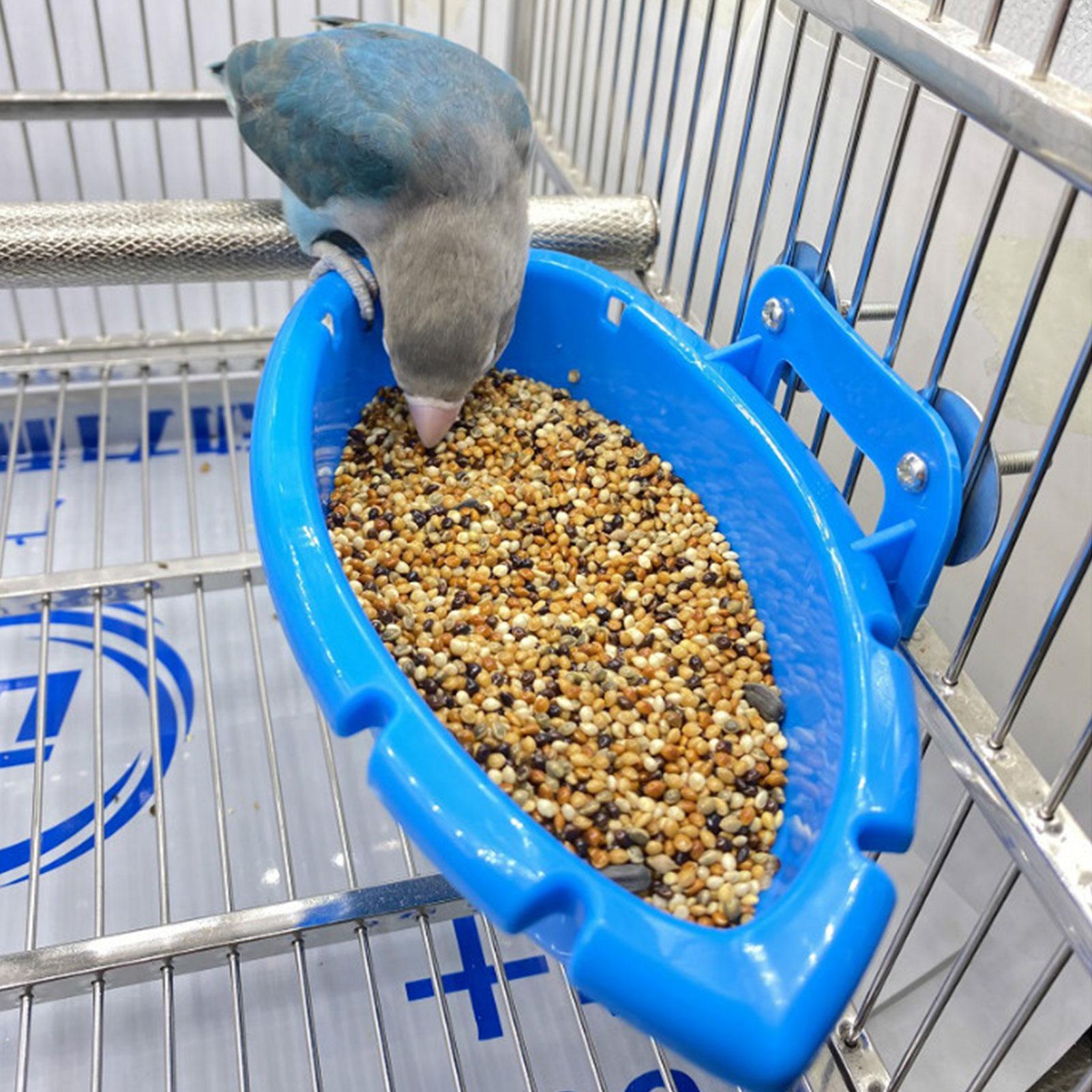 Bird Baths Tub Bowl Basin Parrot Cage Hanging Bathing Box Bird Birdbath Tub Parrot Bath Supplies Bath Room Feeder 6