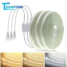 Мягкий гибкий светодиодный свет 220 в 120 светодиодный s не ослепительный светодиодный полоса 1 м-10 м Водонепроницаемый освещение клейкие Белы...