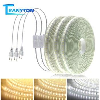 Soft Flexible LED lights 220V 120Leds Not Dazzling Strip 1M-10M Waterproof Lighting Tape White/Neutral White/Warm White - discount item  30% OFF LED Lighting