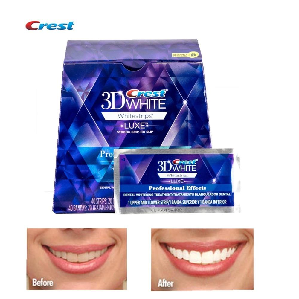 Original Crest 3d Teeth Whitening Strips Luxury Professional